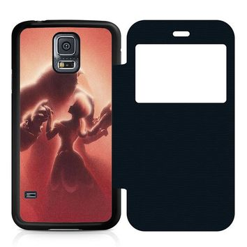 Beauty and the Beast Disney Leather Wallet Flip Case Samsung Galaxy S5
