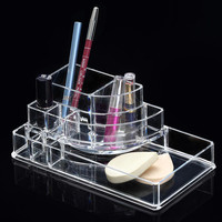 HOT!8 Grids Clear Acrylic Makeup Organizer Cosmetics Display Storage Box Case Jewelry Make Up Lipstick Brush Holder Desk Racks