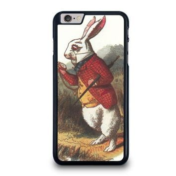 white rabbit alice in wonderland disney iphone 6 6s plus case cover  number 1