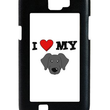 I Heart My - Cute Black Labrador Retriever Dog Galaxy Note 2 Case  by TooLoud