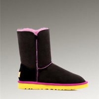 UGG Bailey Button 5803 Boots Black And Red