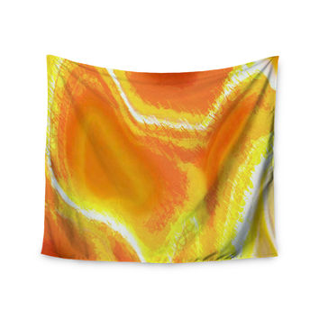 "Oriana Cordero ""Sahara"" Orange Yellow Wall Tapestry"