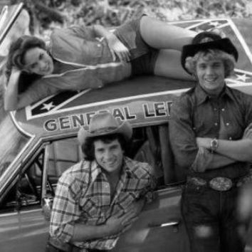 Dukes Of Hazzard Poster Standup 4inx6in black and white