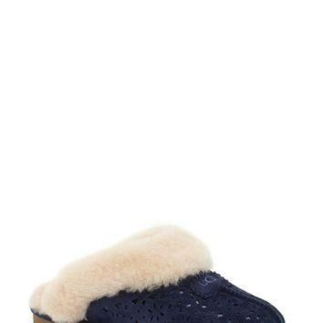 CREY1O UGG? Australia Perforated Genuine Shearling Slipper (Women) | Nordstrom