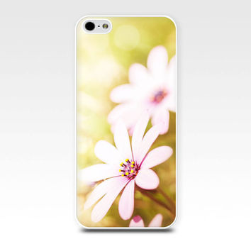 daisy iphone case 5s iphone 4s floral iphone case flowers iphone 4 case 5 botanical iphone case fine art lemon pink pastel girly iphone case