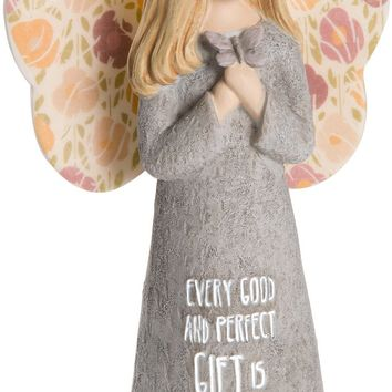 Every good and perfect gift is from above Angel Figurine