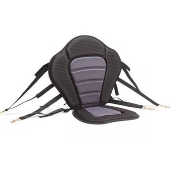 Adjustable Padded  Kayak Seat Deluxe with Straps & Brass Snap Hooks