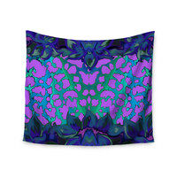 "Nina May ""Cerruda Blue Orchid"" Purple Teal Wall Tapestry"