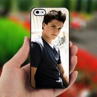 Josh Hutcherson With Signature - Design for iPhone 5 Black Case