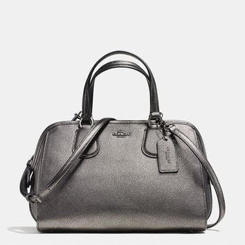 NOLITA SATCHEL IN METALLIC PEBBLE LEATHER