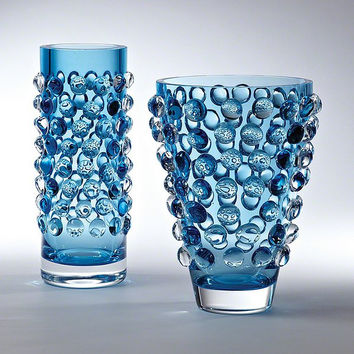 Global Views Bubble Wide Vase-Cobalt - Global Views 6-60268