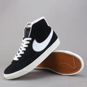 Nike Blazer Mid Suede Vntg Women Men Fashion Casual Old Skool High-Top Shoes-2