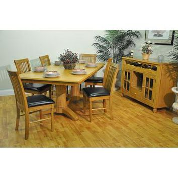 ECI Furniture Double Pedestal Table In Light Oak