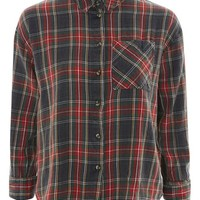 Washed Tartan Checked Shirt