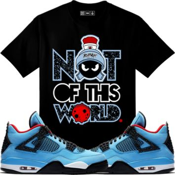 Jordan Retro 4 Cactus Jack Sneaker Tees Shirt - NOT OF THIS WORLD