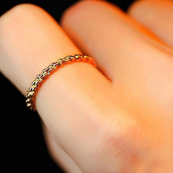 gold simple ring,eternity ring,sister tiny ring, friendship gift Z018
