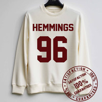 Hemmings 96 Sweatshirt Luke Hemmings Sweater 5 Seconds of Summer Hoodie Shirt – Size XS S M L XL