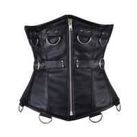 Linda Goth Leather Underbust Corset NS-1450