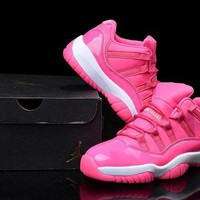 Air Jordan 11 Retro Low Pink Basketball Shoe 36-40