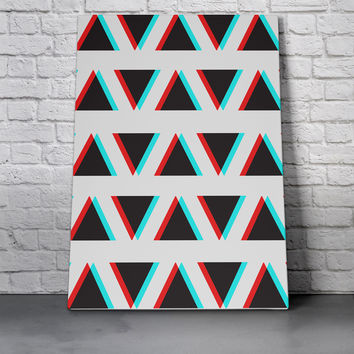 Canvas Wall Art Print - Triangles Anaglyph by Eric Bray