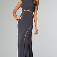 Floor Length Sleek Open Back Promm Dress by JVN for Jovani