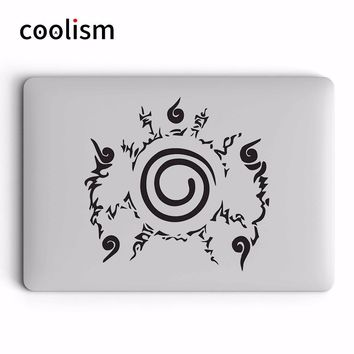 Naruto Sasauke ninja  Seal Mark Laptop Sticker for Apple Macbook Air 13 Decal Pro Retina 11 12 15 17 inch Vinyl HP Mac Skin Notebook Stickers AT_81_8