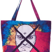 "ROMWE | Tie-dye ""Cross Imbeciles"" Handle Bag, The Latest Street Fashion"