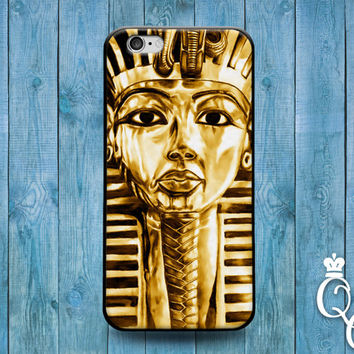 iPhone 4 4s 5 5s 5c 6 6s plus iPod Touch 4th 5th 6th Generation Cute Gold King Tut Egyptian Egypt Custom Middle East Phone Cover Cool Case +