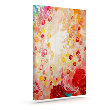 "Ebi Emporium ""Summer Days"" Red Tan Canvas Art"