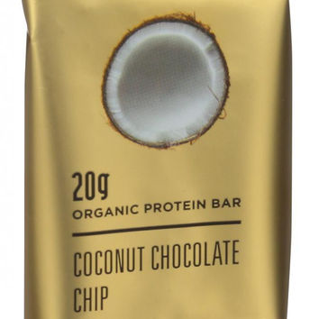 22 Days Nutrition Organic Protein Bar - Coconut Chocolate Chip - Case Of 12 - 2.6 Oz Bars
