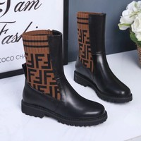 Fendi Women Fashion Casual Half Boots Shoes