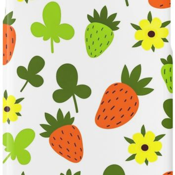 'Pattern Hand Drawing Strawberries Flowers' iPhone Case/Skin by cybermall