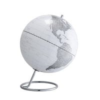 World Map Globe White