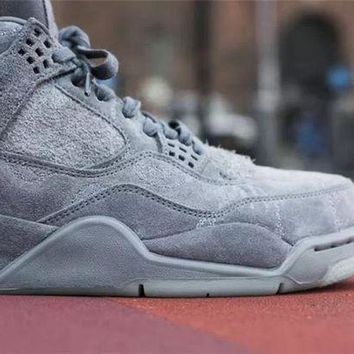 "NIKE AIR JORDAN 4 COOL GREY ""KAWS"""