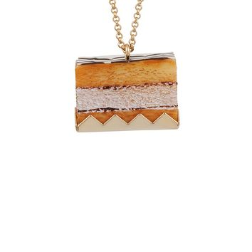 N2 by Les Néréides GOURMET COFFEE NAPOLEON CAKE LONG NECKLACE