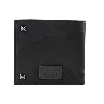 Black Studded Wallet by Valentino