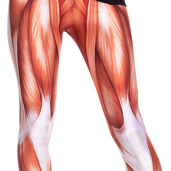 Original Muscles Leggings / XS, S, M, L/ High Contrasts / Quality Fabric / by BAD INKA