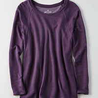 AEO Soft & Sexy Terry Raglan Sweatshirt , Purple