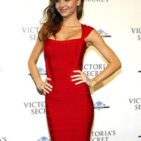 Celebrity Style Sexy Red Bodycon Bandage Dress