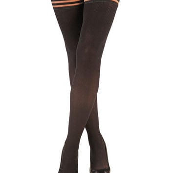 Kix'ies Dana Lynn Ribbed Thigh High