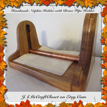 Napkin Holder-Handmade-Copper Pipe to Hold Napkins Down-Unique-One of a Kind-Sturdy Construction-Gift Idea-Country Home Decor-Picnic Decor