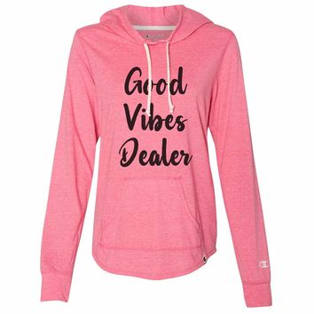 Good Vibes Dealer - Womens Champion Brand Hoodie - Hooded Sweatshirt
