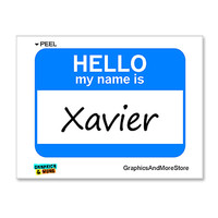 Xavier Hello My Name Is Sticker