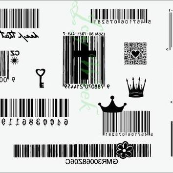 Waterproof Temporary Tattoo Sticker Surf barcode code tattoo Two-dimensional tatto stickers flash tatoo fake tattoos