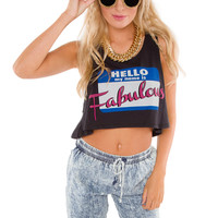 Hello! I'm Fabulous Crop Top - Black