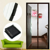 Synthetic Fiber Screen Door Curtain Mesh Hands Net Magnetic Anti Mosquito Bug Divider Curtain