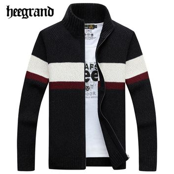 Men's Fashion Cotton Sweaters Thick Long Sleeve Wool Cardigan  Knited Jacket