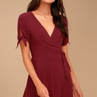 My Philosophy Burgundy Wrap Drees