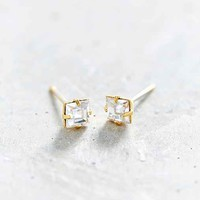 Urban Renewal Faceted Crystal Stud Earring