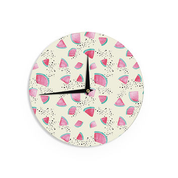 "Danii Pollehn ""Watermelon"" Food Wall Clock"
